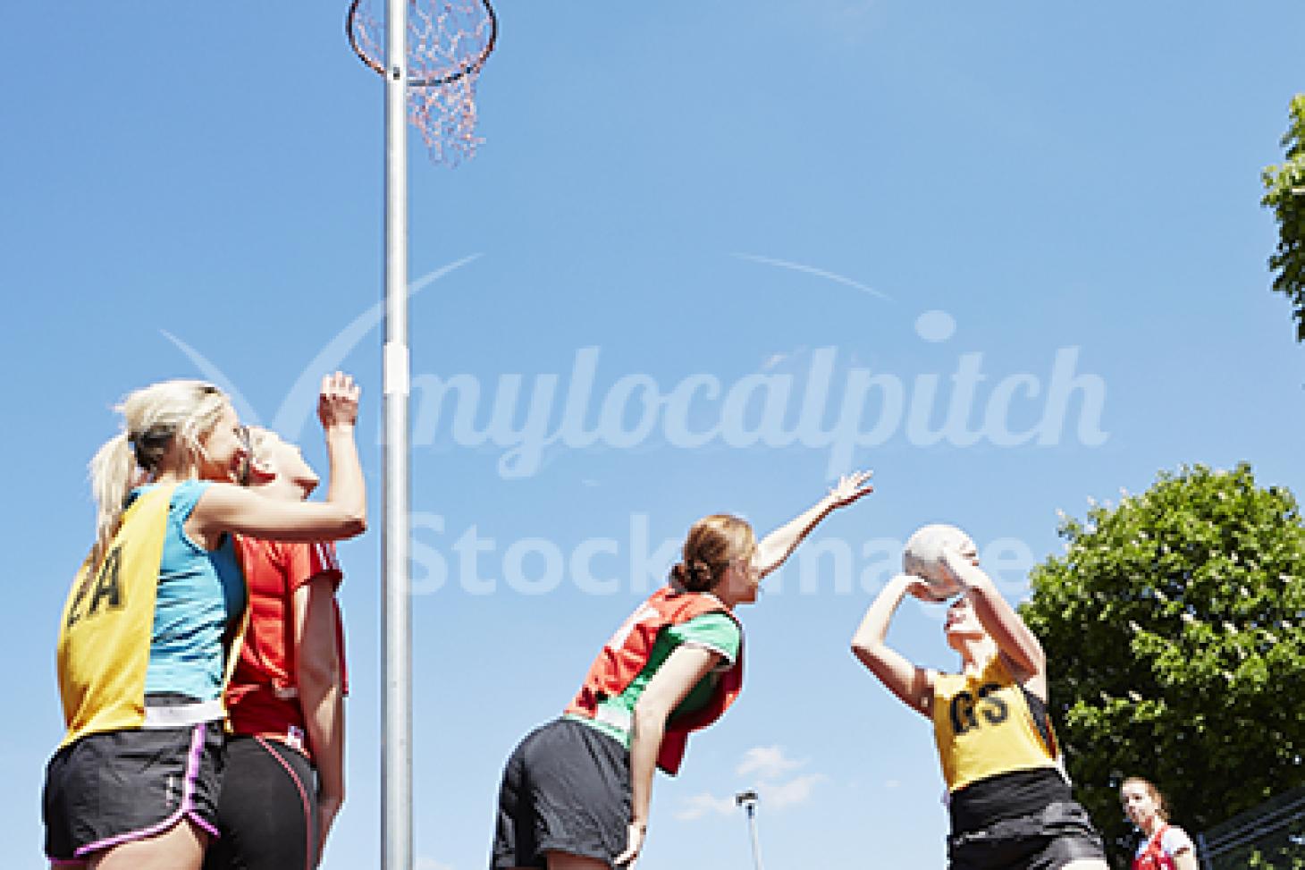 The Heathland School Indoor netball court