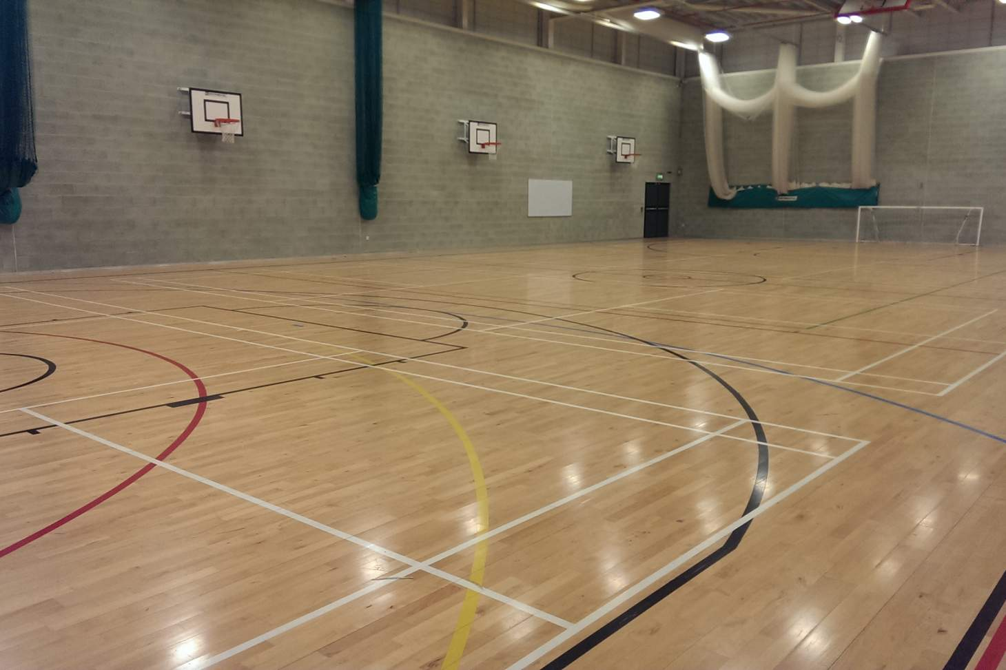 Harris Academy Falconwood Indoor netball court