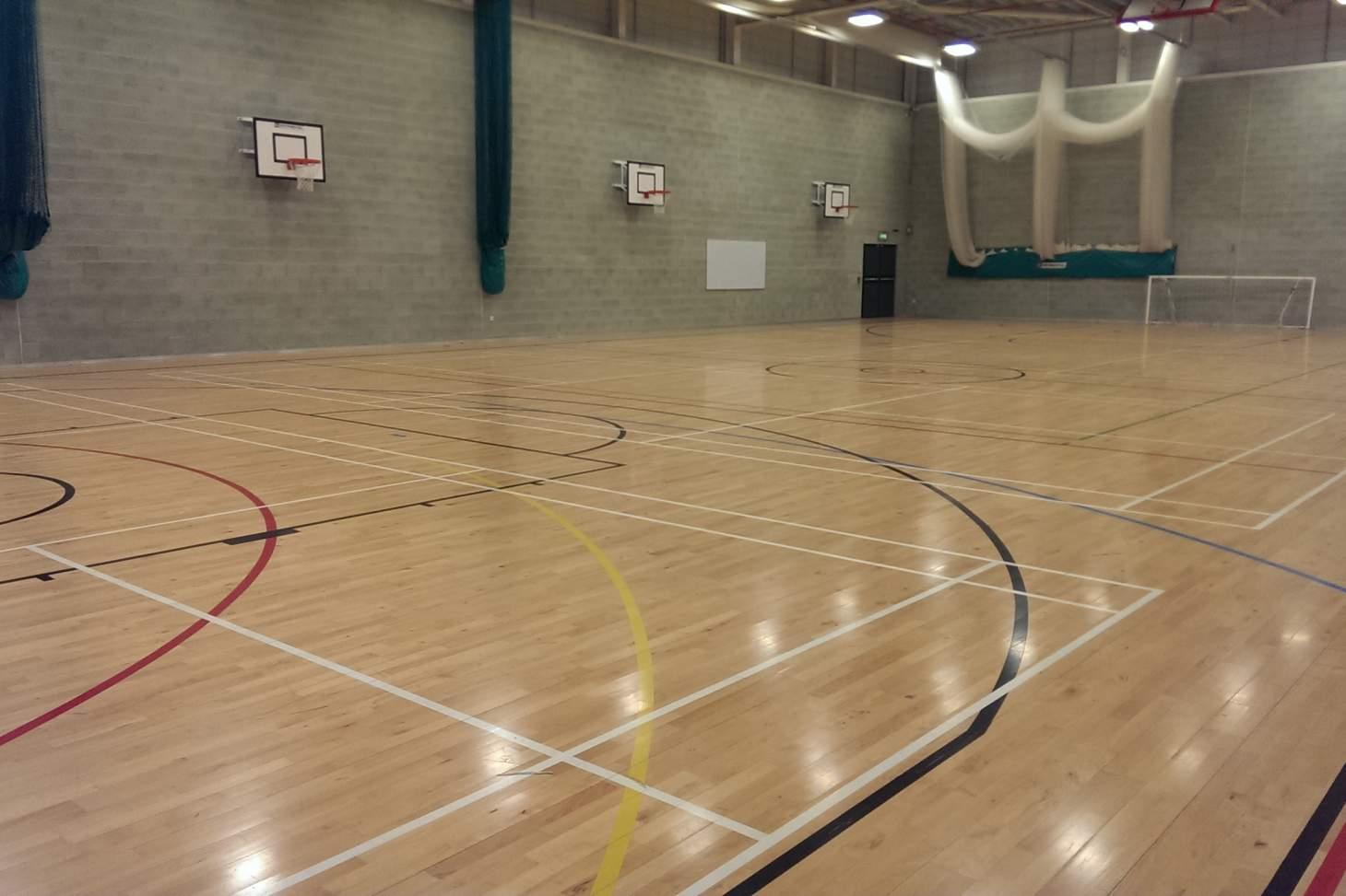 Harris Academy Falconwood Indoor basketball court