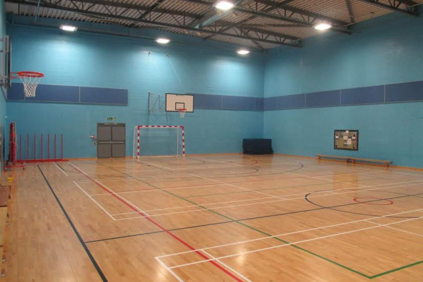 Prendergast Vale School Indoor futsal pitch