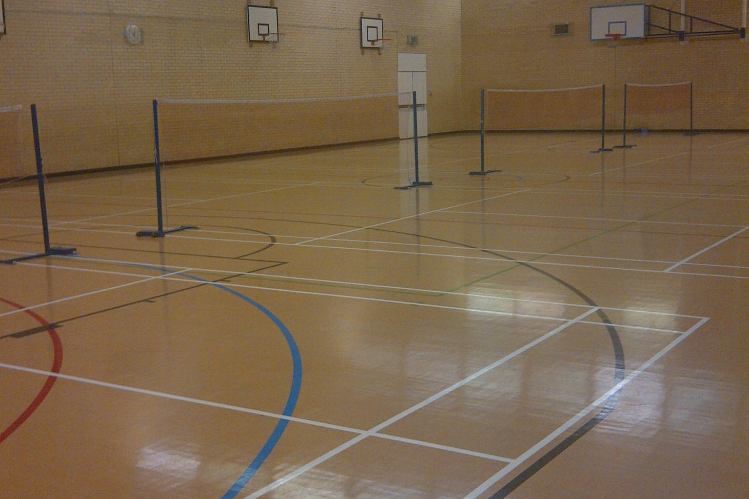 Becket Sports Centre Indoor netball court
