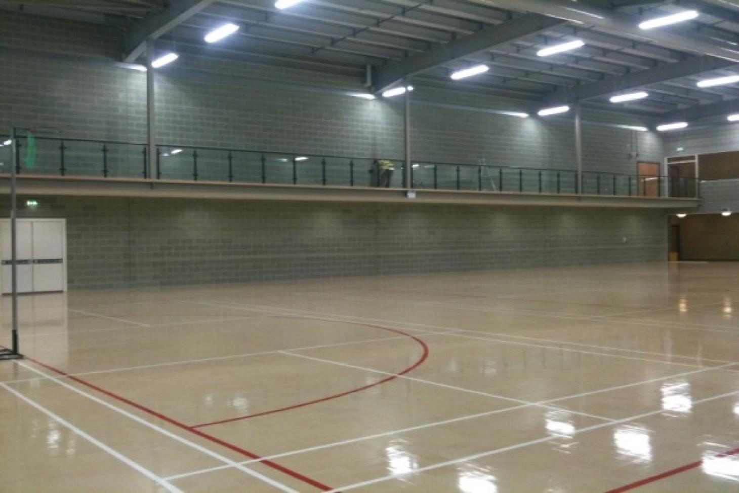 Dartford Grammar School for Girls Indoor | Hard badminton court