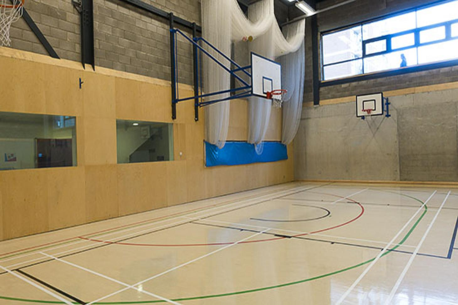 Bridge Academy Indoor basketball court