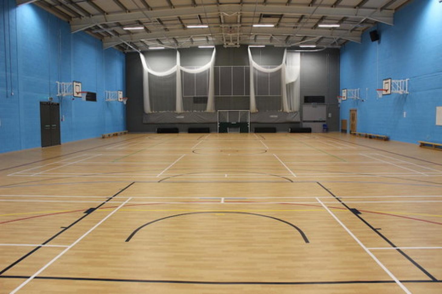 Amersham School Indoor basketball court