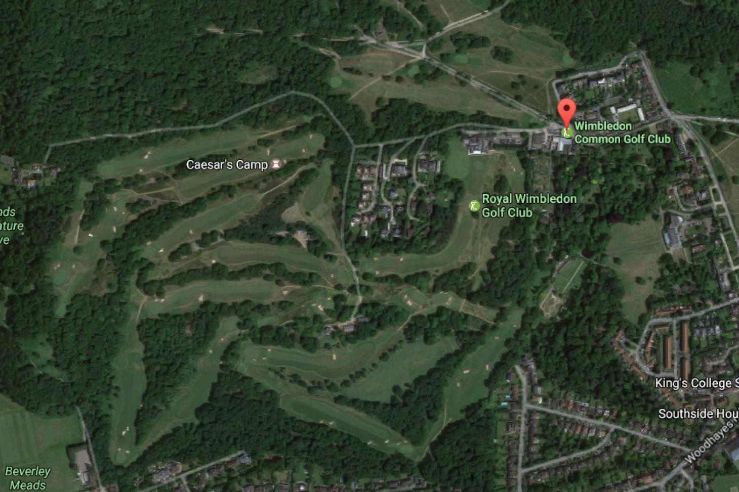 Wimbledon Common Golf Club 18 hole golf course