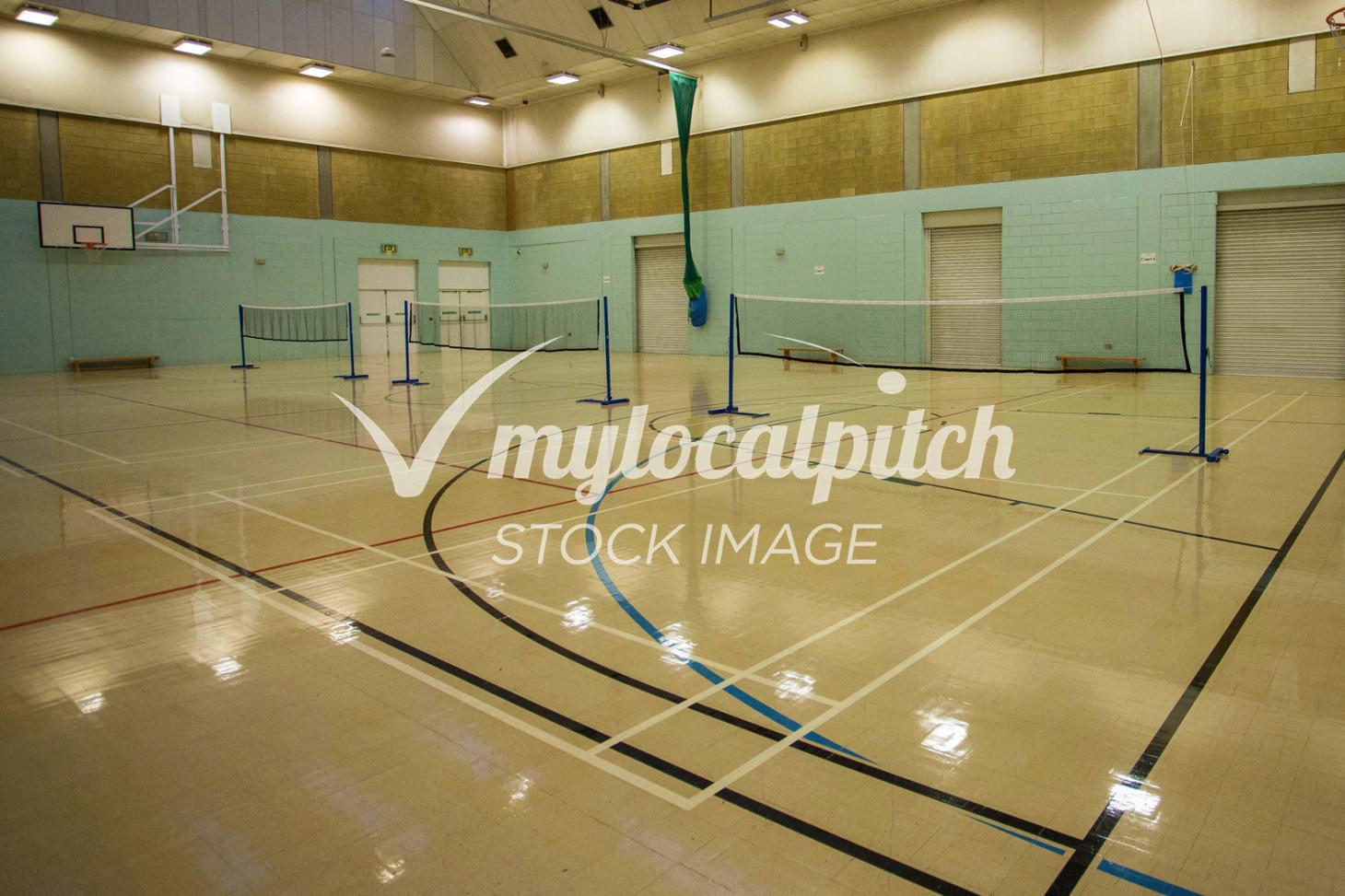 Streetfield Middle School Indoor   Hard badminton court
