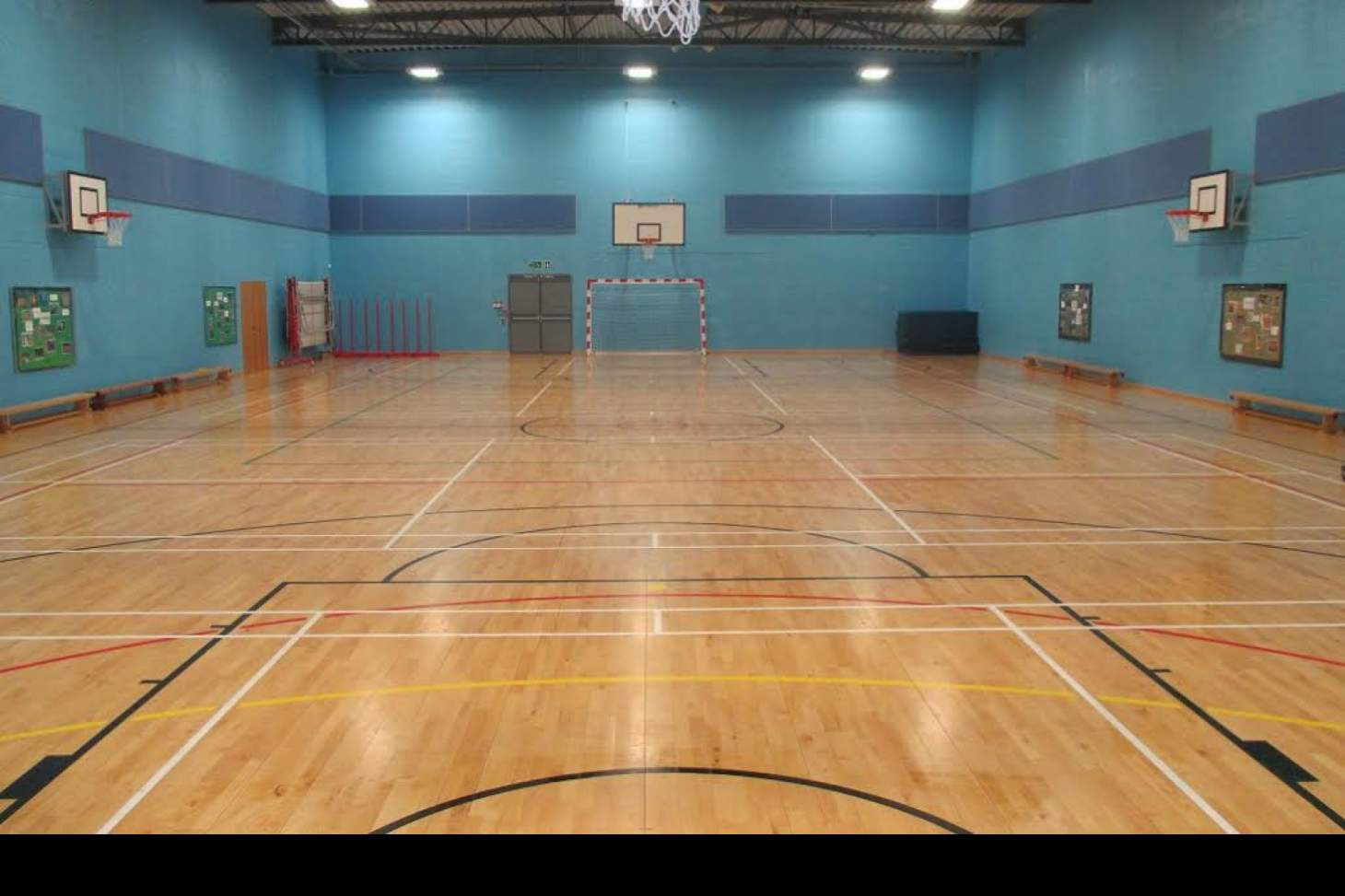 Prendergast Vale School Indoor netball court