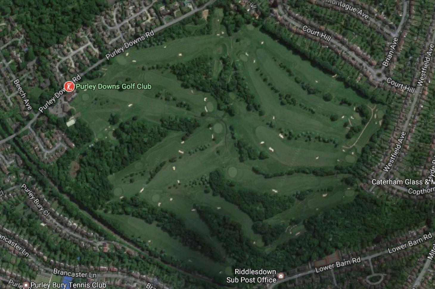 Purley Downs Golf Club 18 hole golf course