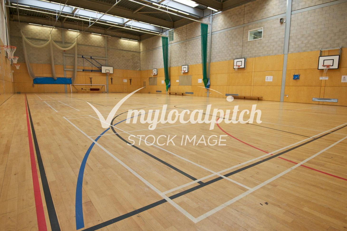 Barking Abbey School Indoor basketball court