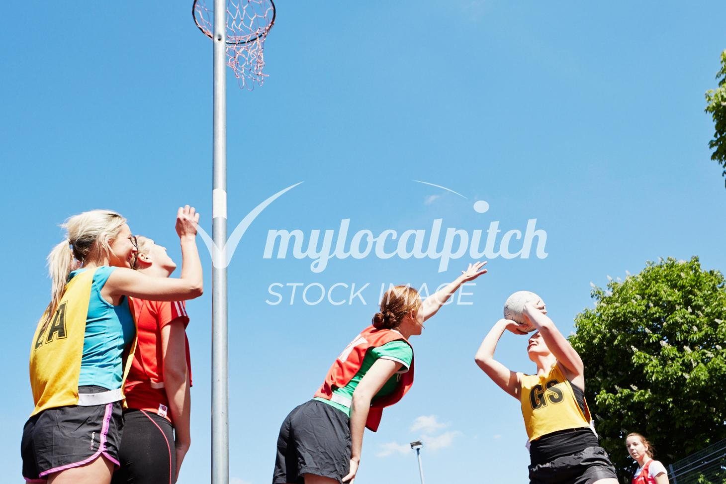 Challney High School for Girls Outdoor | Concrete netball court