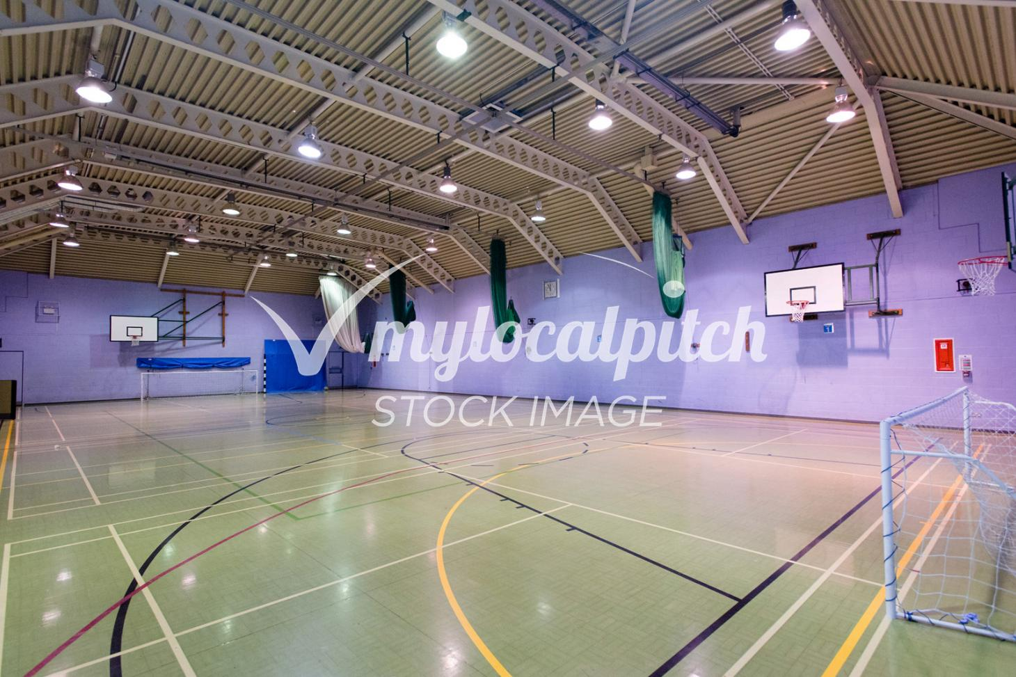 Barking Abbey School Indoor netball court