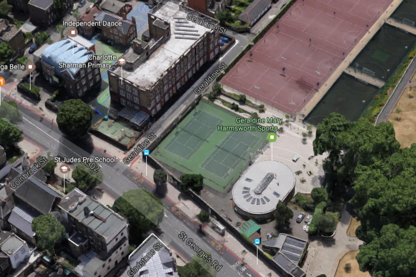 Geraldine Mary Harmsworth Sports Facility Outdoor   Hard (macadam) tennis court