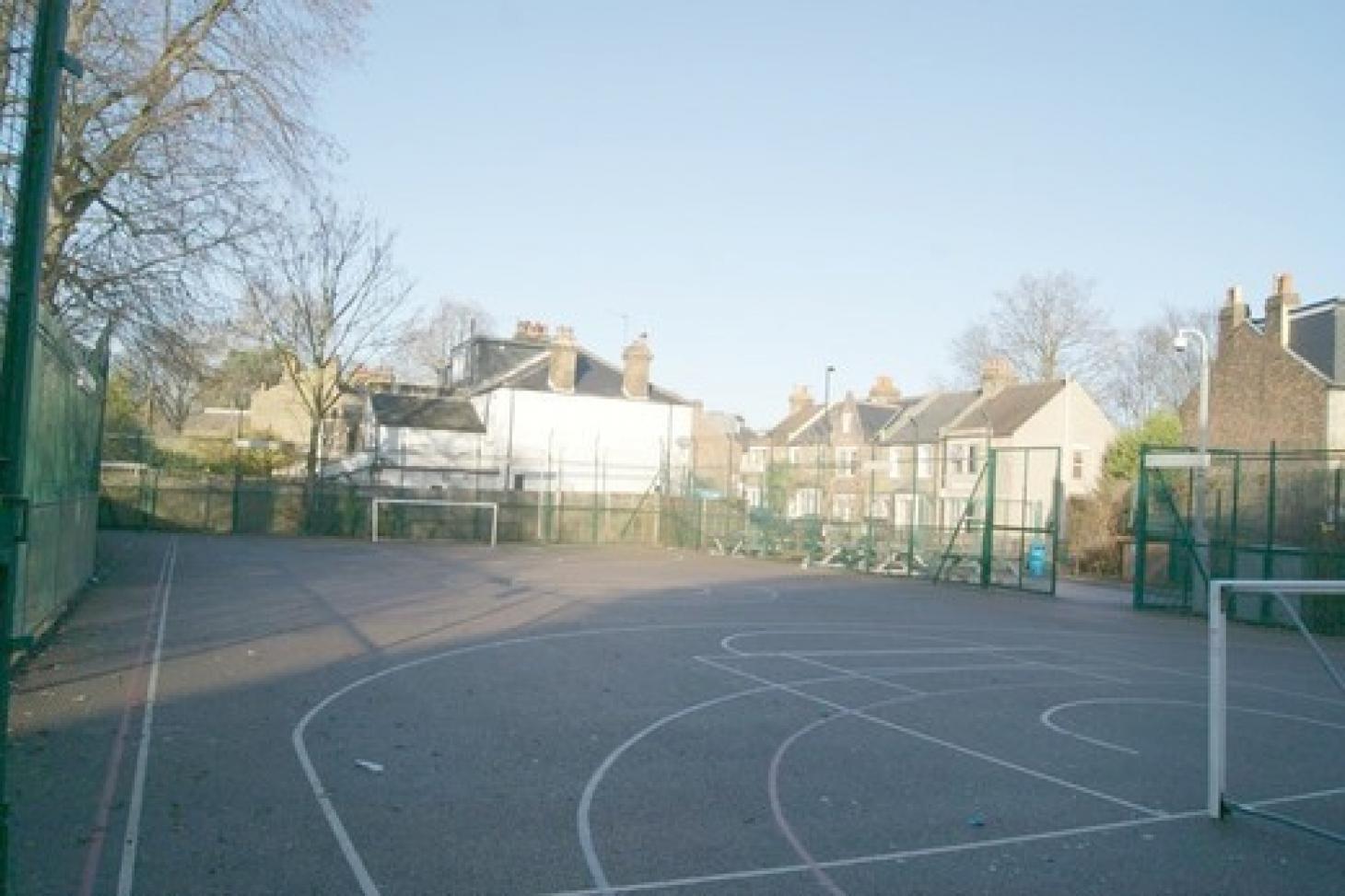 Trinity Secondary School, Lewisham 5 a side   Concrete football pitch