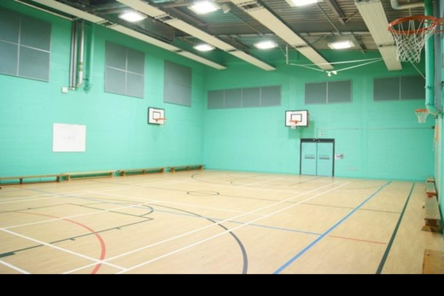 Trinity Secondary School, Lewisham Indoor basketball court