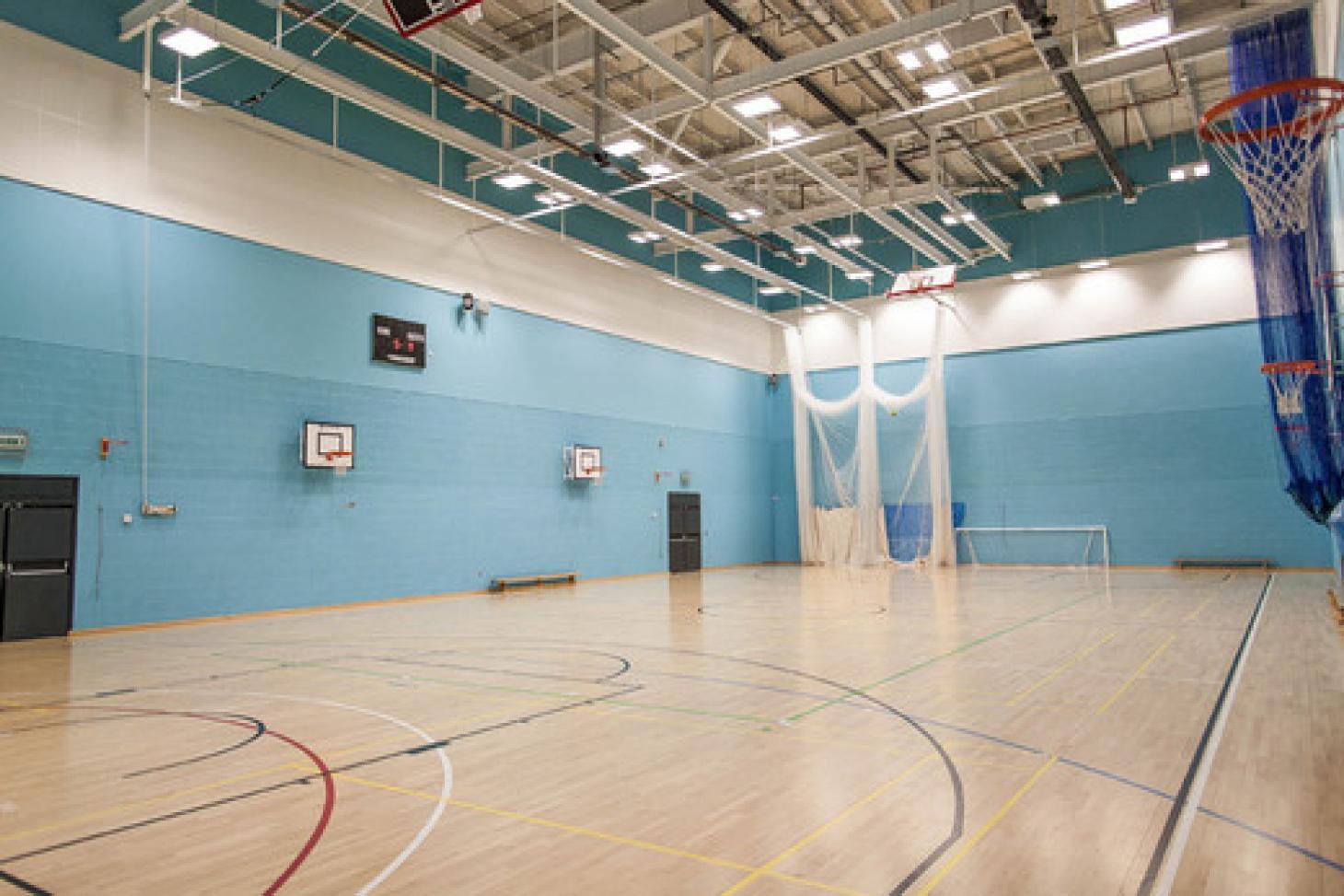 Droylsden Academy Indoor basketball court