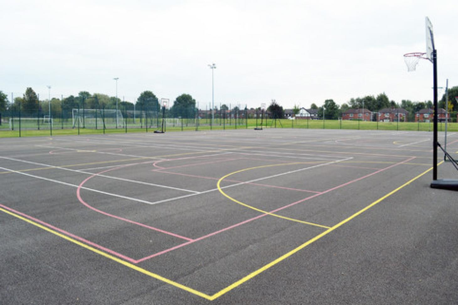 Droylsden Academy Outdoor | Concrete netball court
