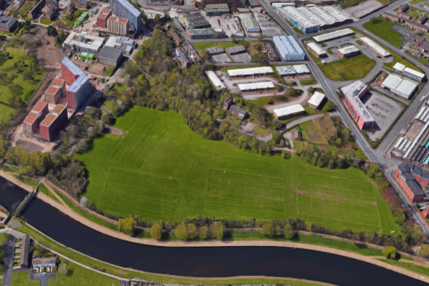 University of Salford Sports Centre 11 a side | Grass football pitch