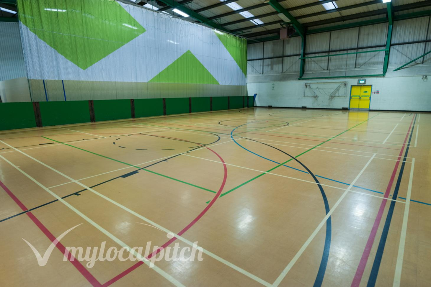 Eccles Leisure Centre Indoor netball court