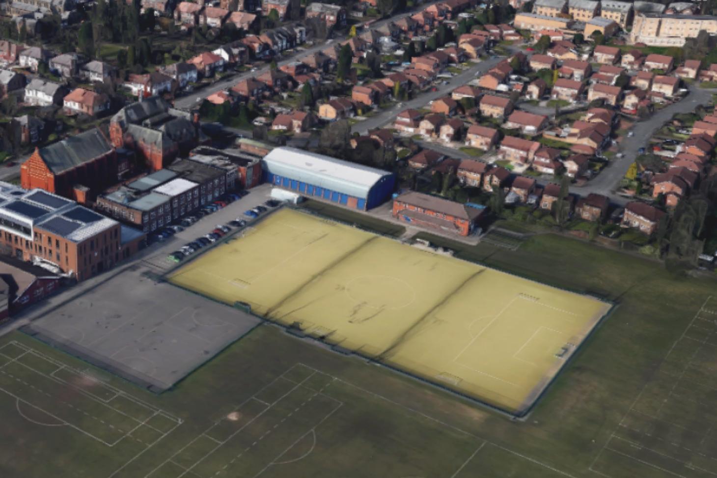 William Hulme Grammar School 11 a side   Astroturf football pitch