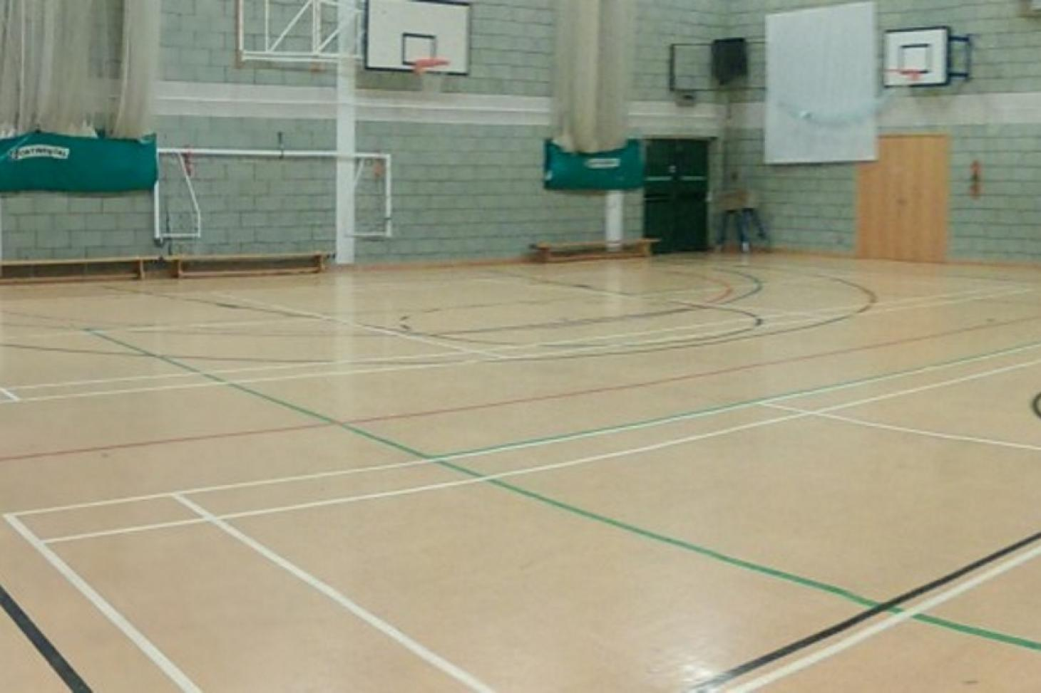 St Cecilia's Church of England School Indoor basketball court