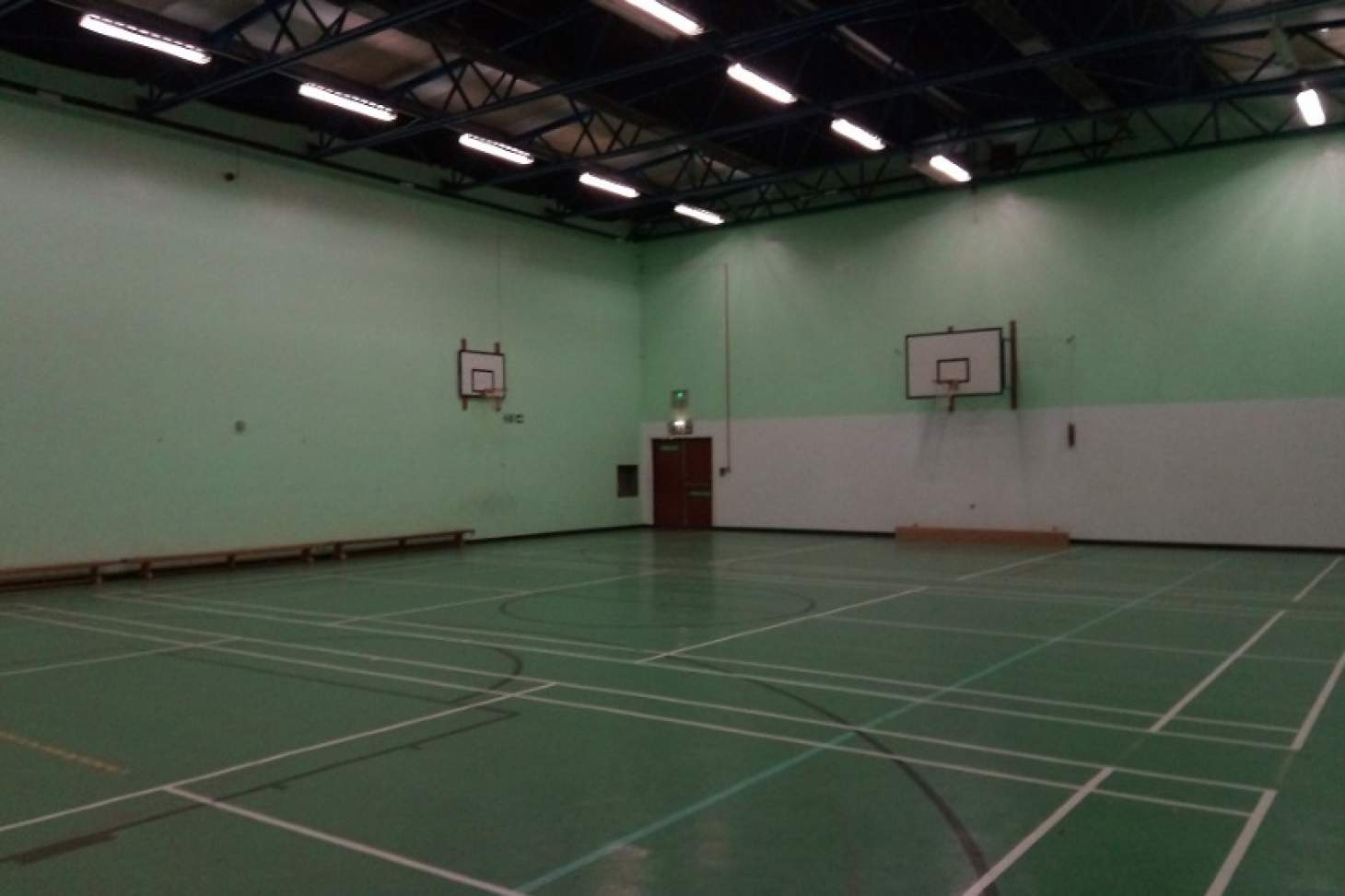 Hazelwick School Indoor | Hard badminton court