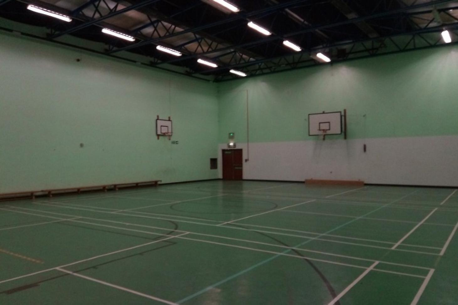 Hazelwick School Indoor basketball court