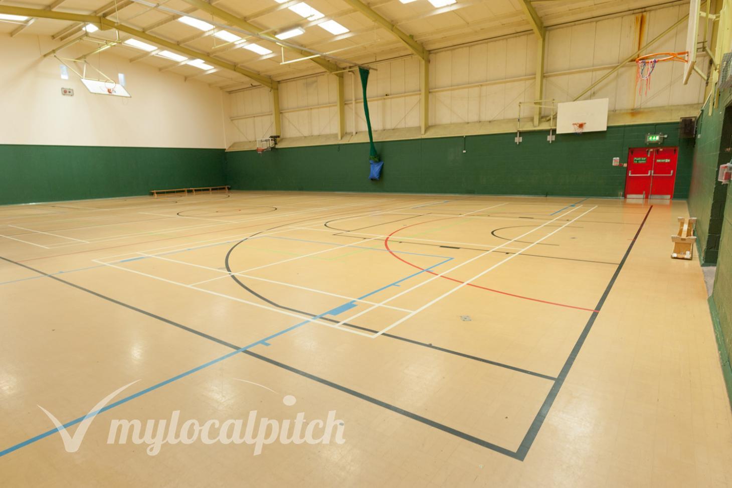 Swinton and Pendlebury Leisure Centre Indoor netball court