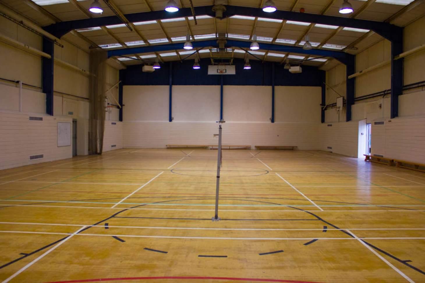 Queens Park Community School Indoor basketball court