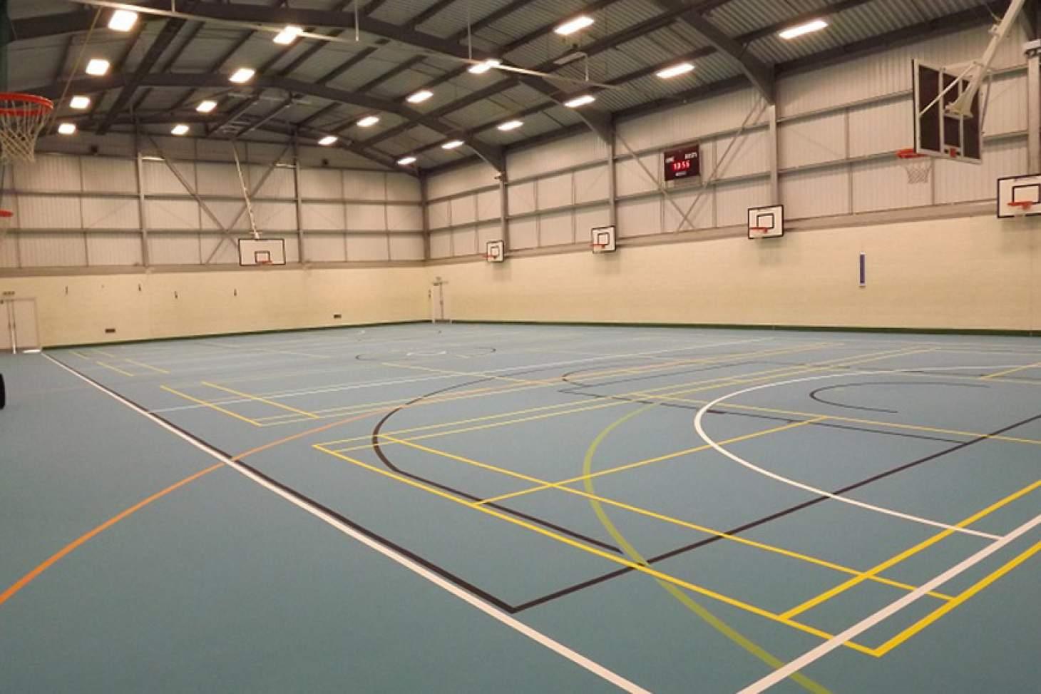 Dr Challoner's High School Indoor | Hard badminton court