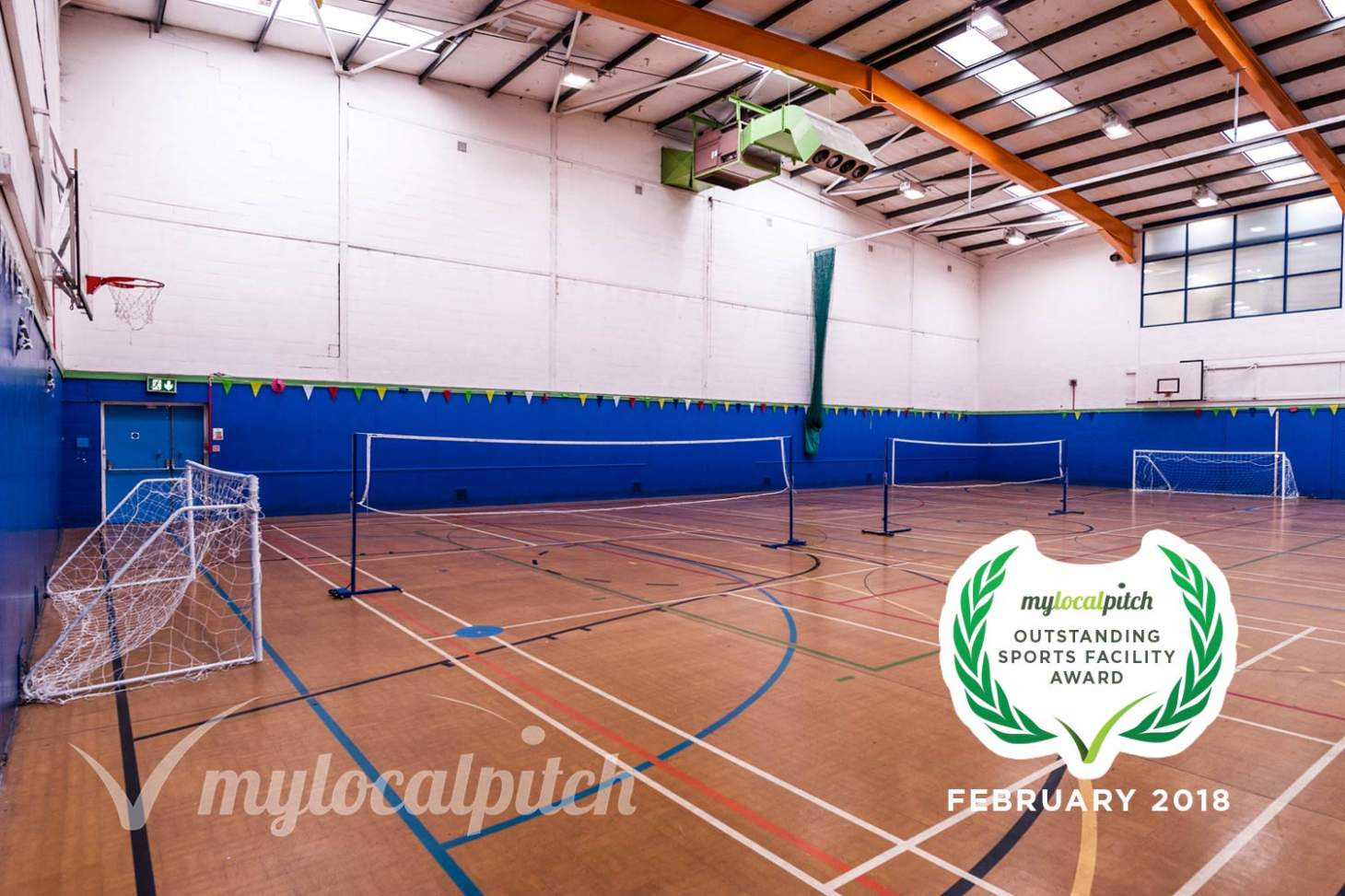 Ordsall Leisure Centre Indoor basketball court