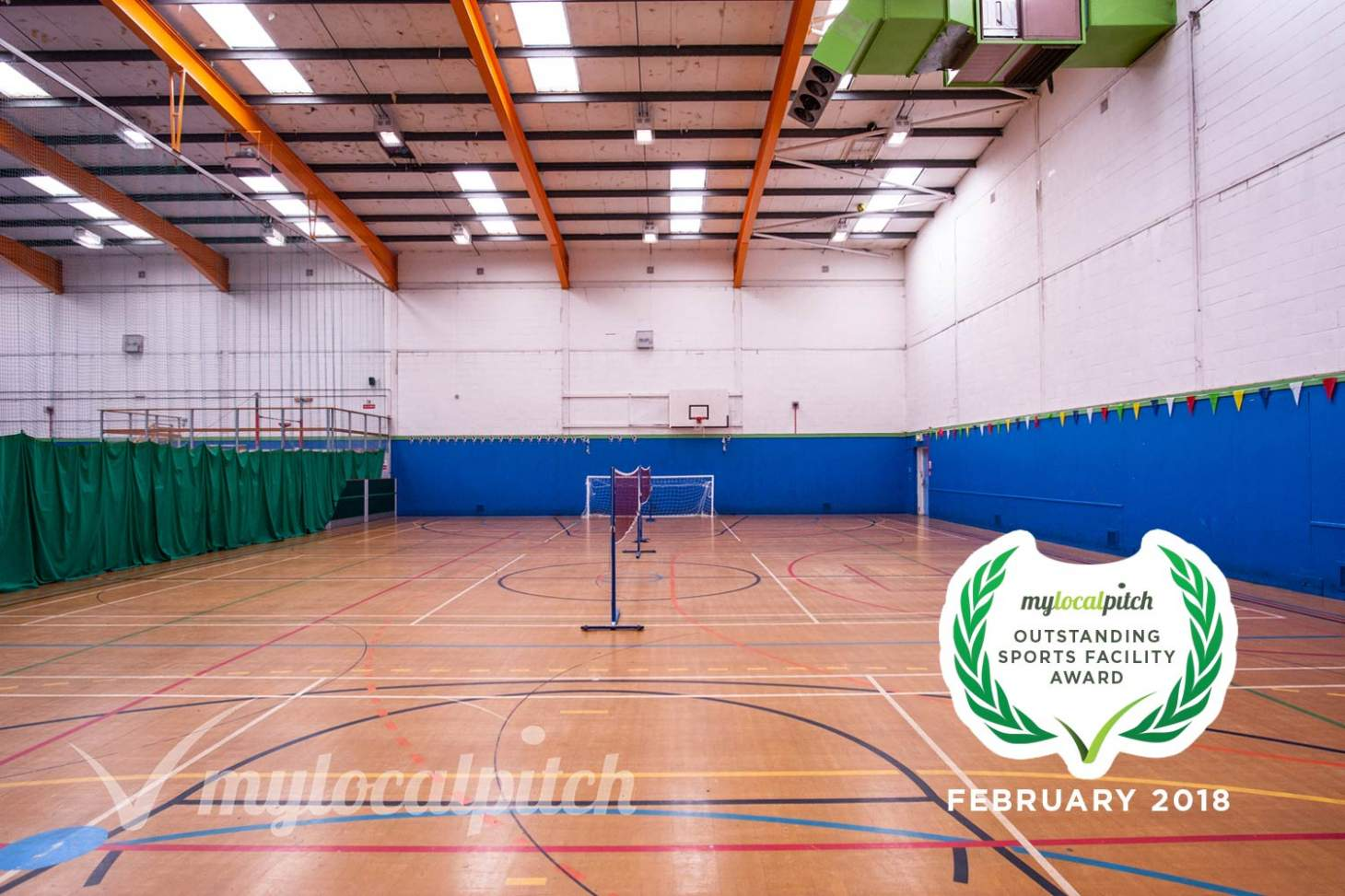 Ordsall Leisure Centre Indoor netball court