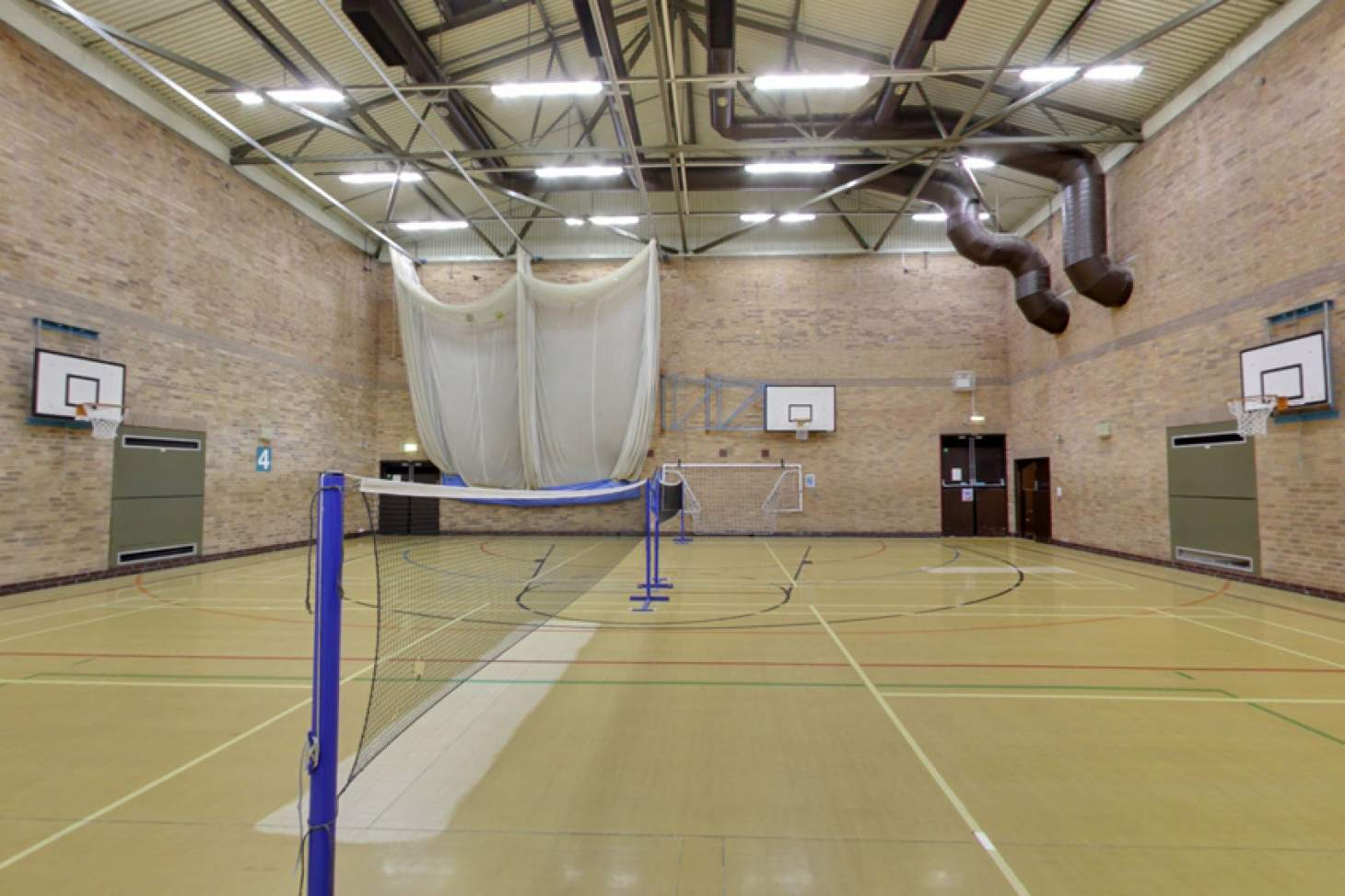 Stanley Deason Leisure Centre Half court | Sports hall basketball court