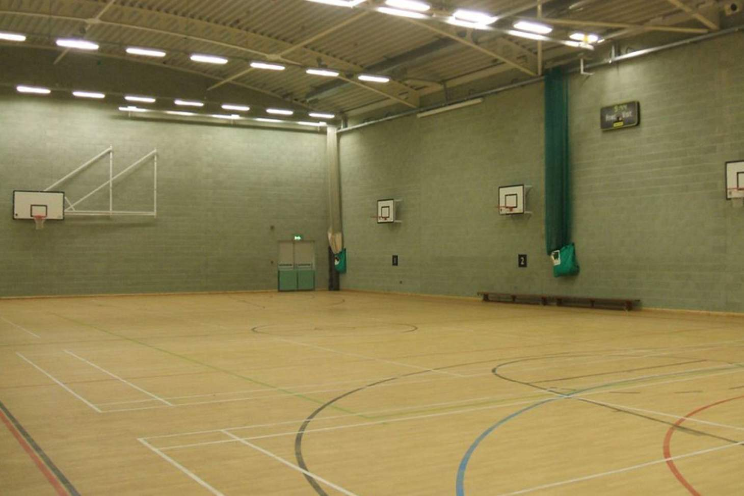 Longhill Sports Centre Half court | Sports hall basketball court