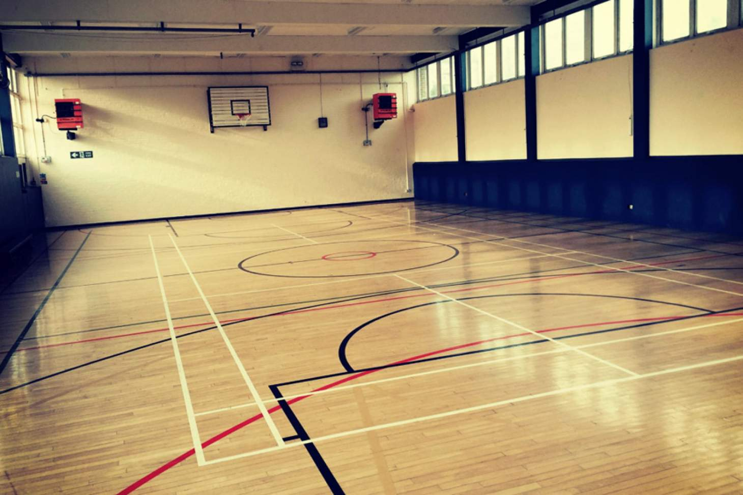The Manor Road Gym Indoor basketball court