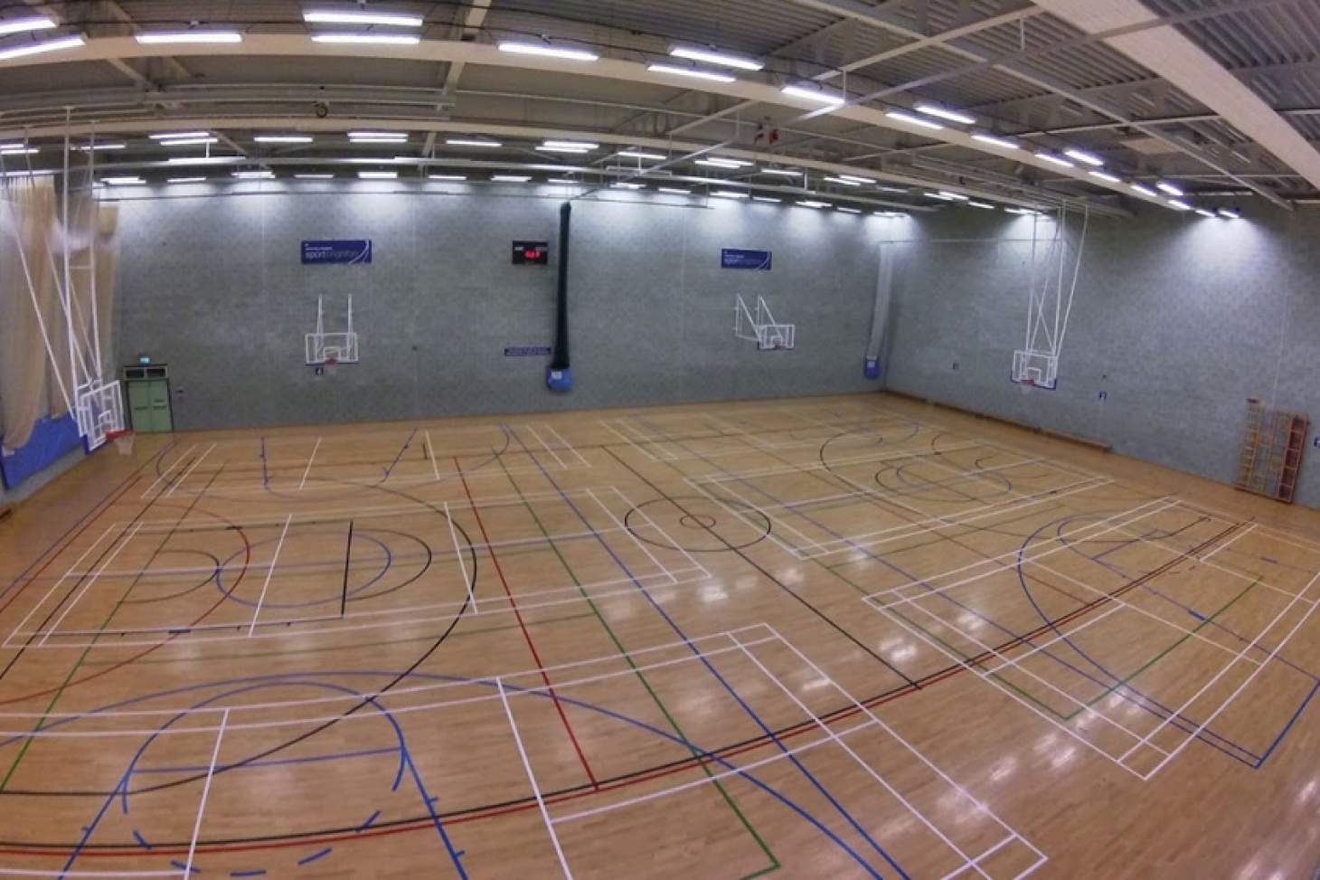 University Of Brighton (Falmer Campus) Indoor basketball court
