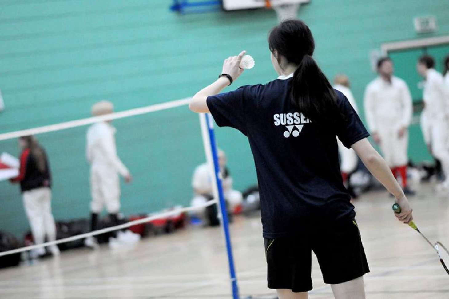 University Of Sussex Sport Centre Indoor   Hard badminton court